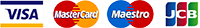 Visa Mastercard Maestro JCB 200
